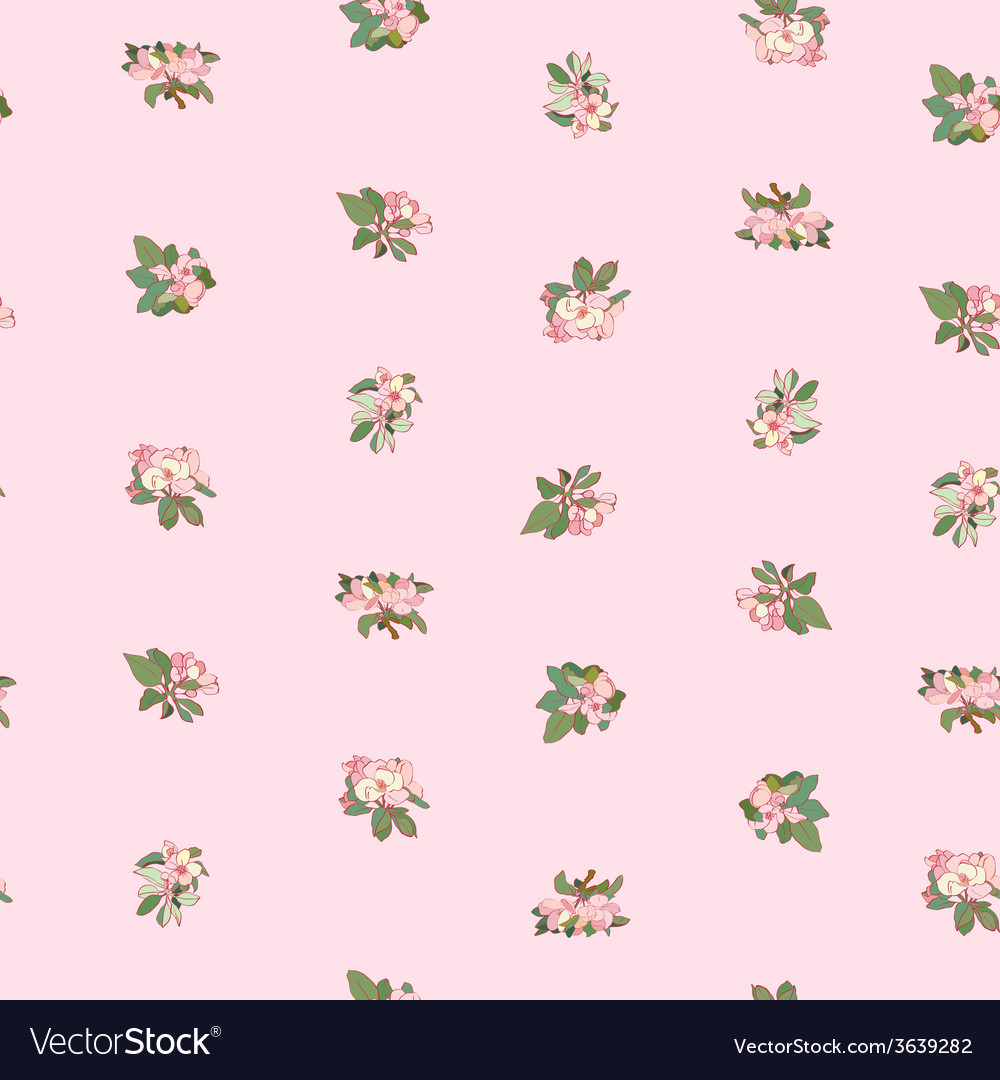 Apple flowers pattern vector | Price: 1 Credit (USD $1)