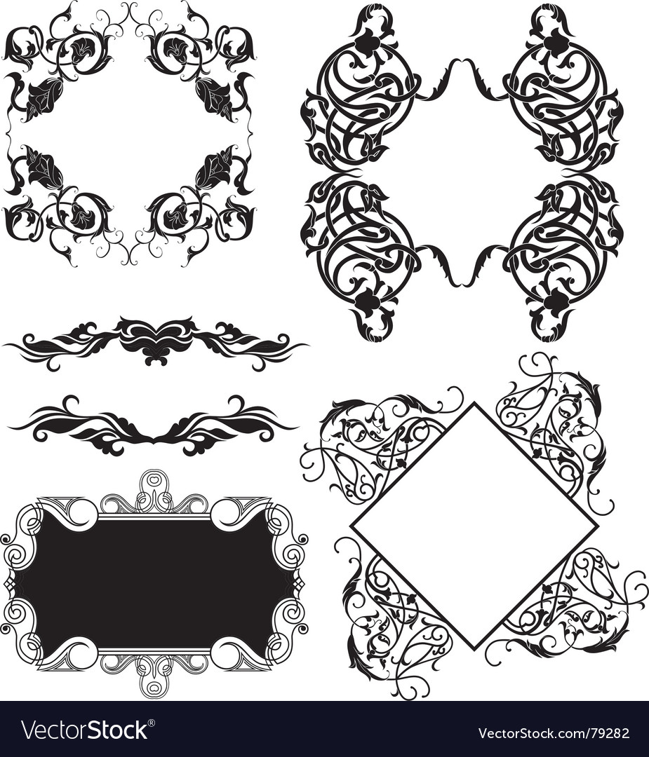 Frame elements vector | Price: 1 Credit (USD $1)