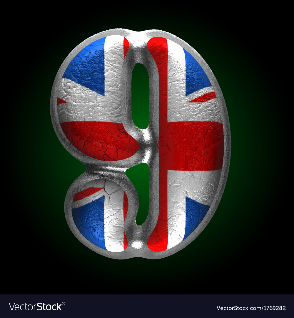 Great britain metal figure 9 vector | Price: 1 Credit (USD $1)