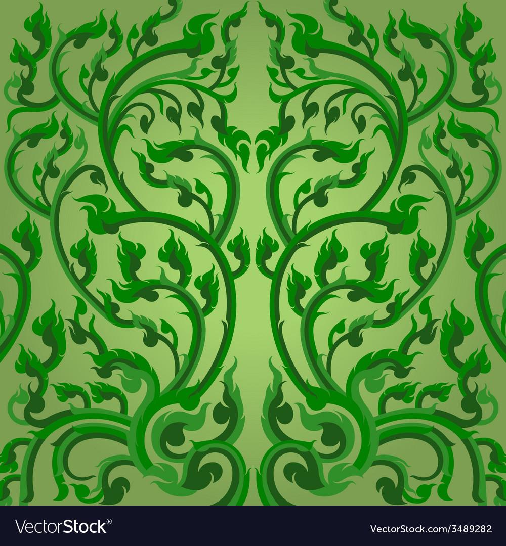 Green winding vines vector | Price: 1 Credit (USD $1)