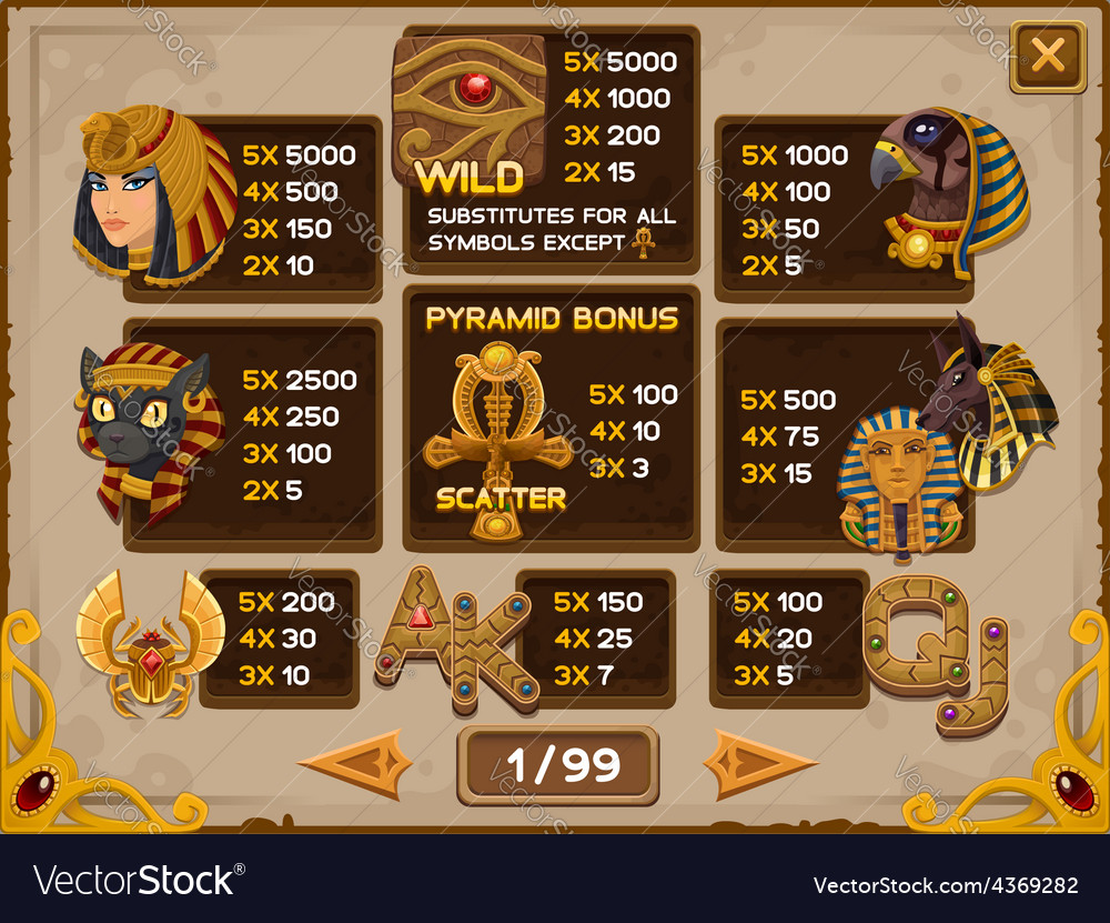 Info screen for slots game vector | Price: 3 Credit (USD $3)