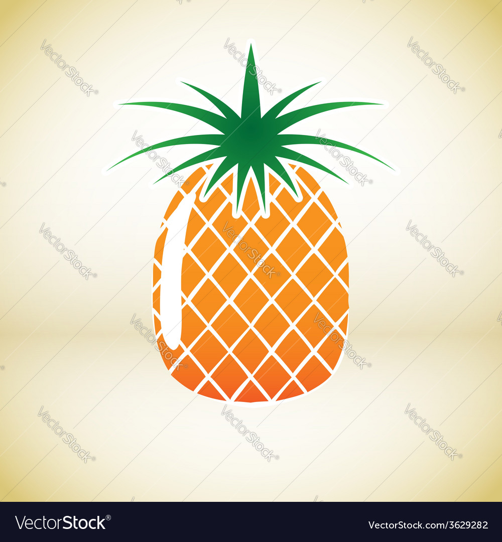 Pineapple symbol vector | Price: 1 Credit (USD $1)