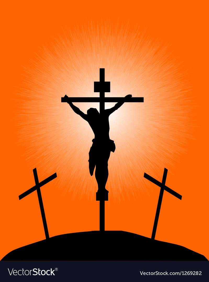 Silhouette of a crucifix vector | Price: 1 Credit (USD $1)