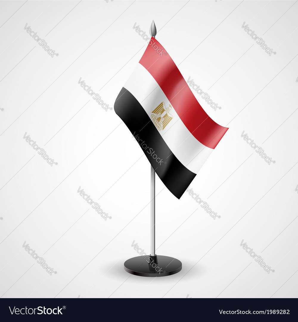 Table flag of egypt vector | Price: 1 Credit (USD $1)