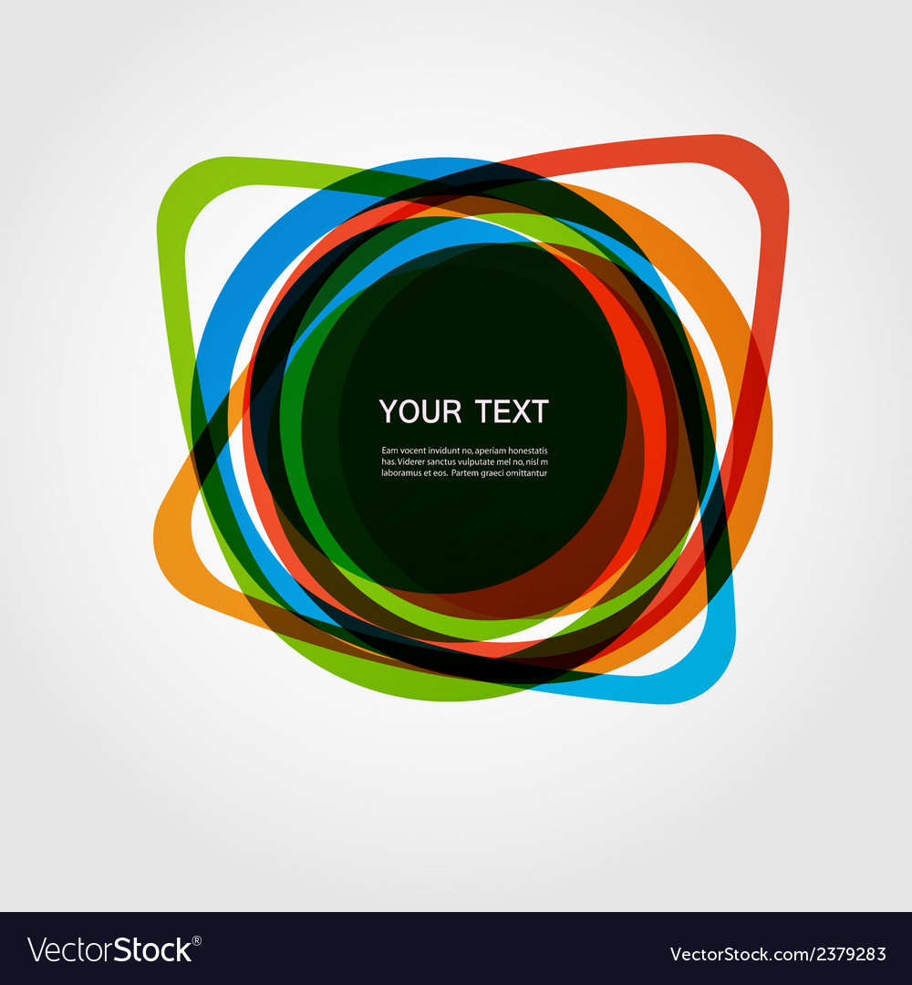 Abstract form color line design eps10 vector | Price: 1 Credit (USD $1)