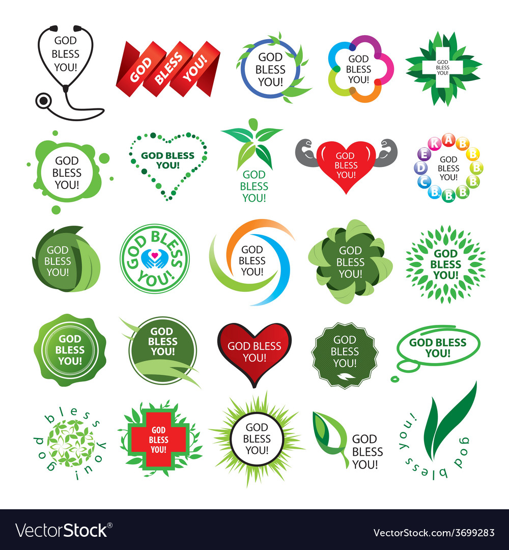 Biggest collection of logos natural health vector | Price: 1 Credit (USD $1)