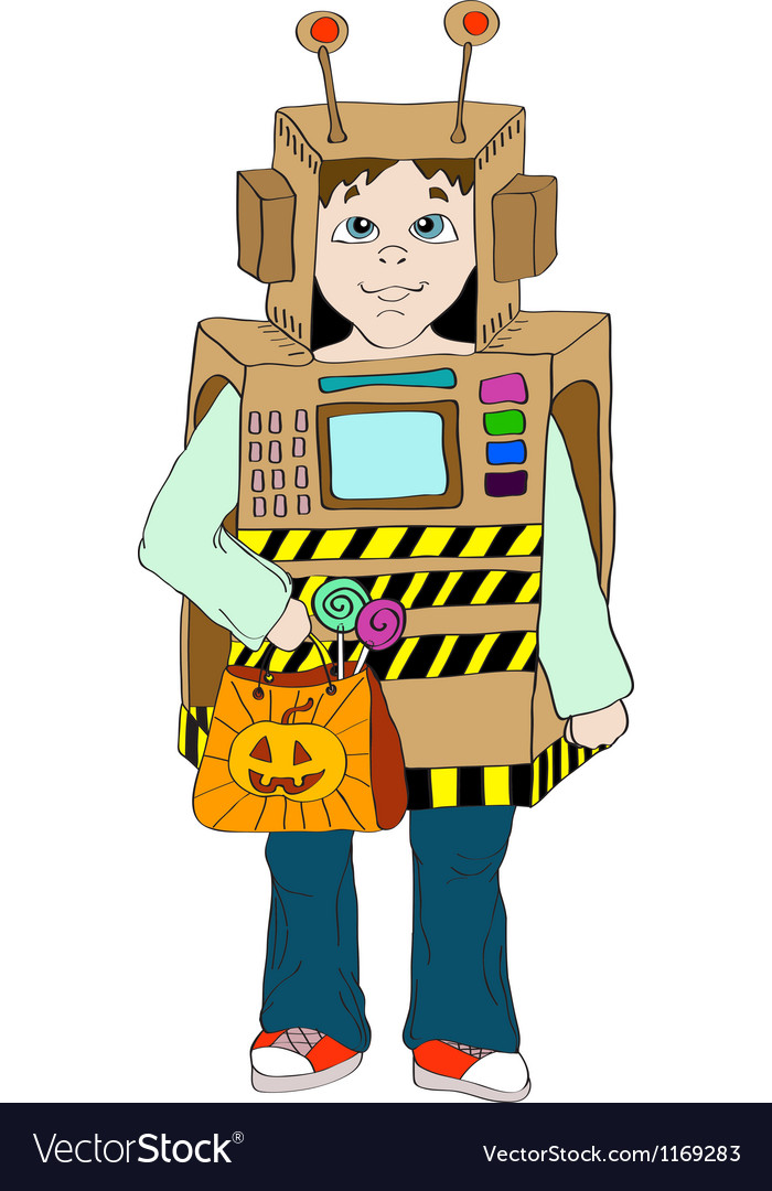 Boy in cosmo costume vector | Price: 1 Credit (USD $1)