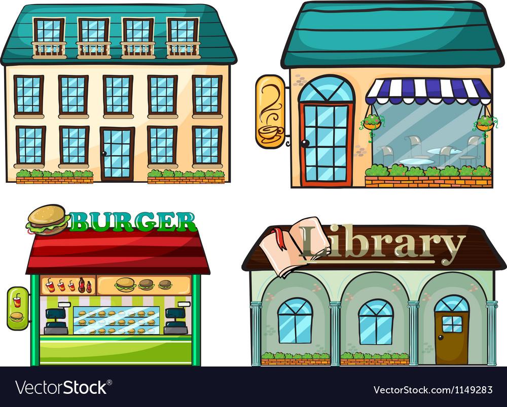 Cartoon shops set vector | Price: 1 Credit (USD $1)