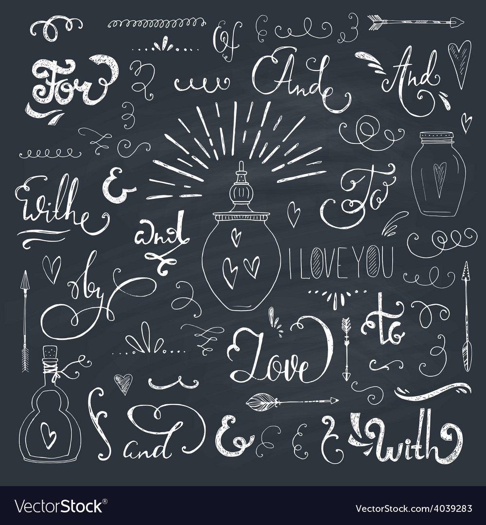 Catchwords and ampersands vector | Price: 1 Credit (USD $1)