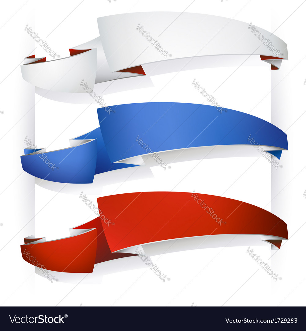 Color ribbon banners vector | Price: 1 Credit (USD $1)