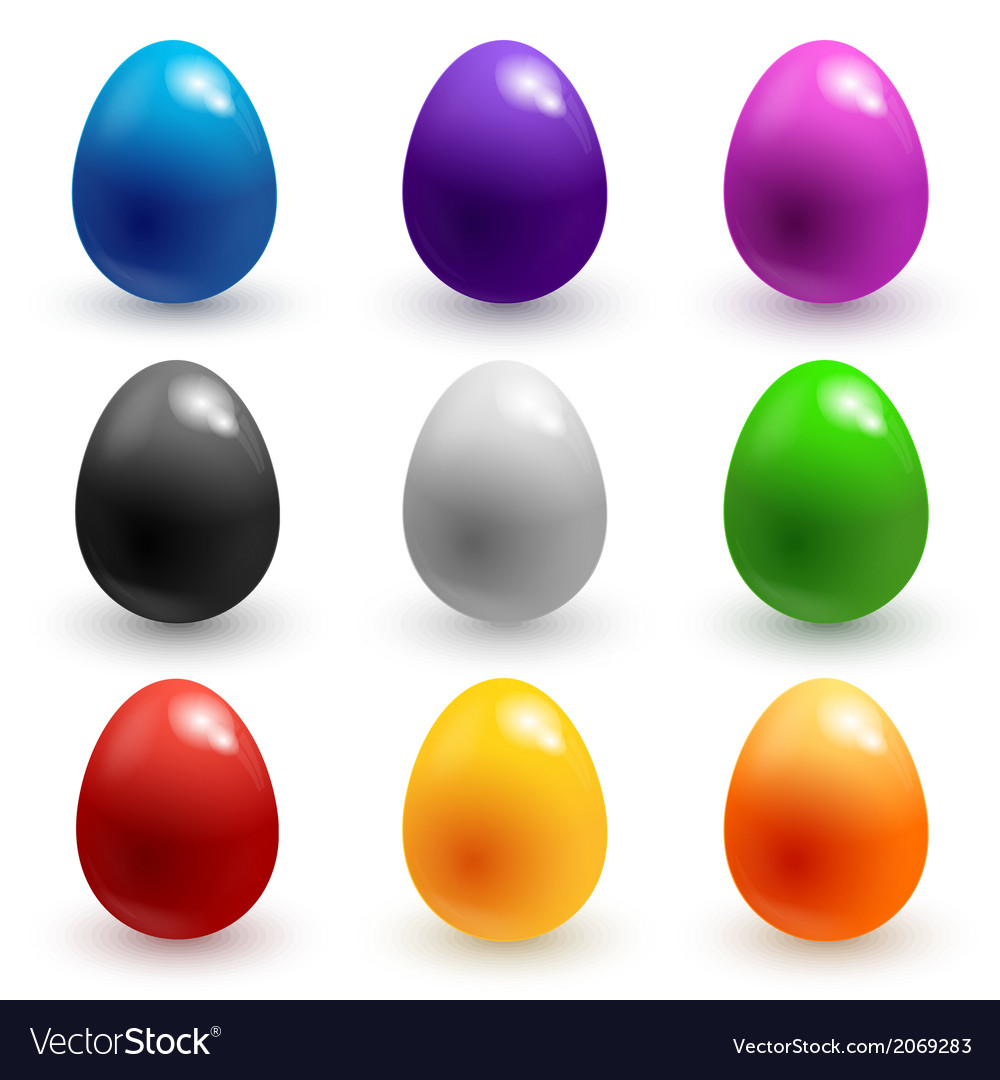 Colorful glossy easter eggs vector | Price: 1 Credit (USD $1)