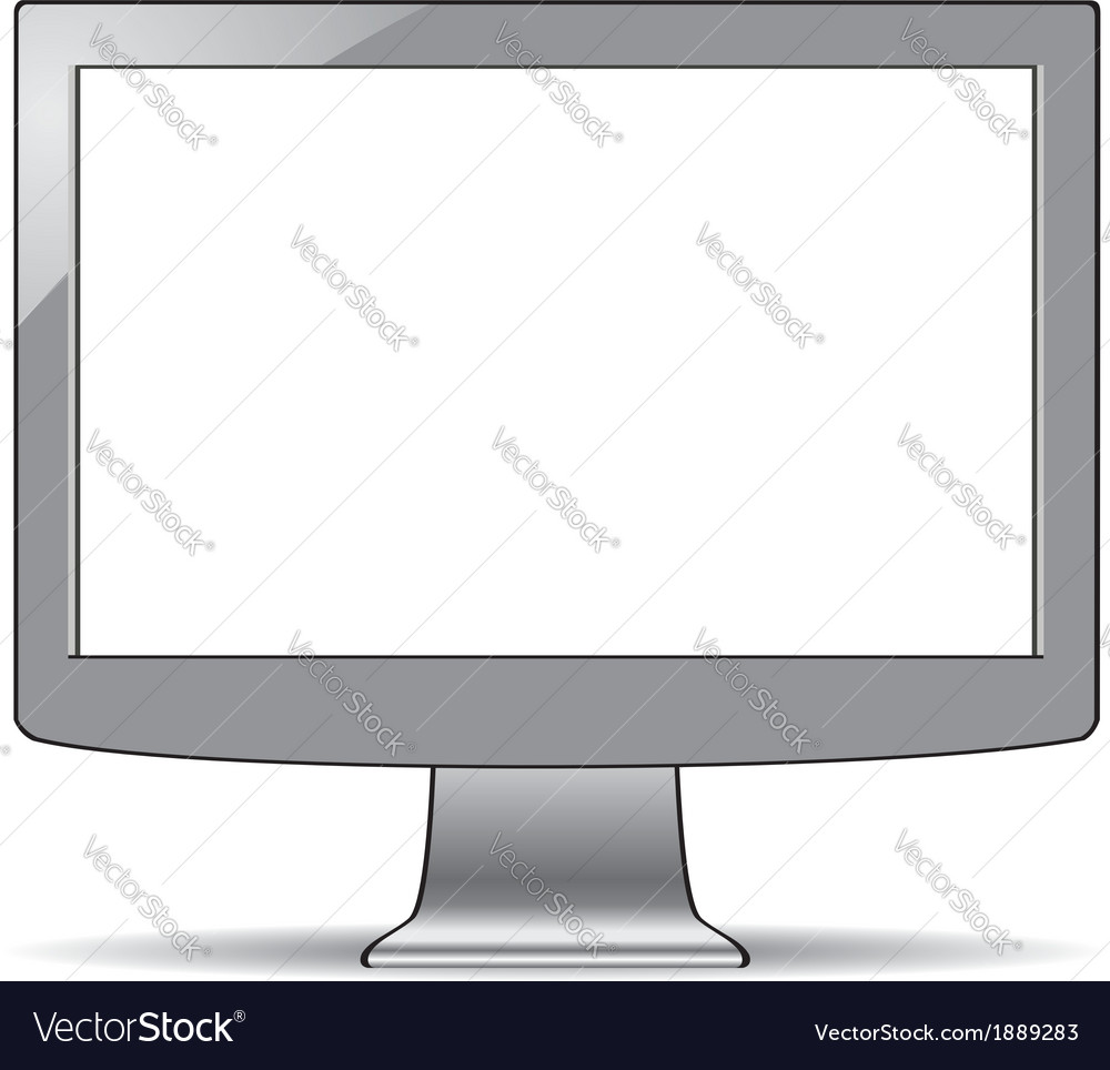 Computer lcd screen vector | Price: 1 Credit (USD $1)