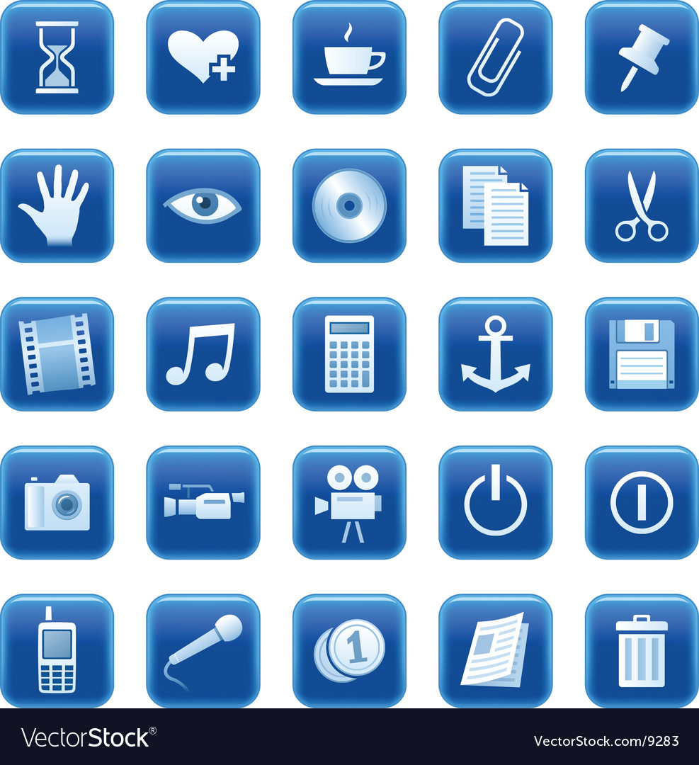 Icons buttons vector | Price: 3 Credit (USD $3)