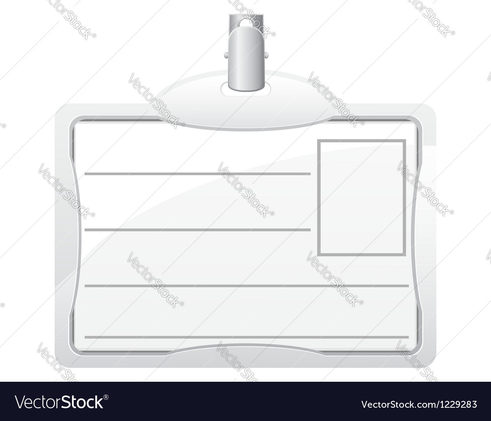 Identification card 03 vector | Price: 1 Credit (USD $1)