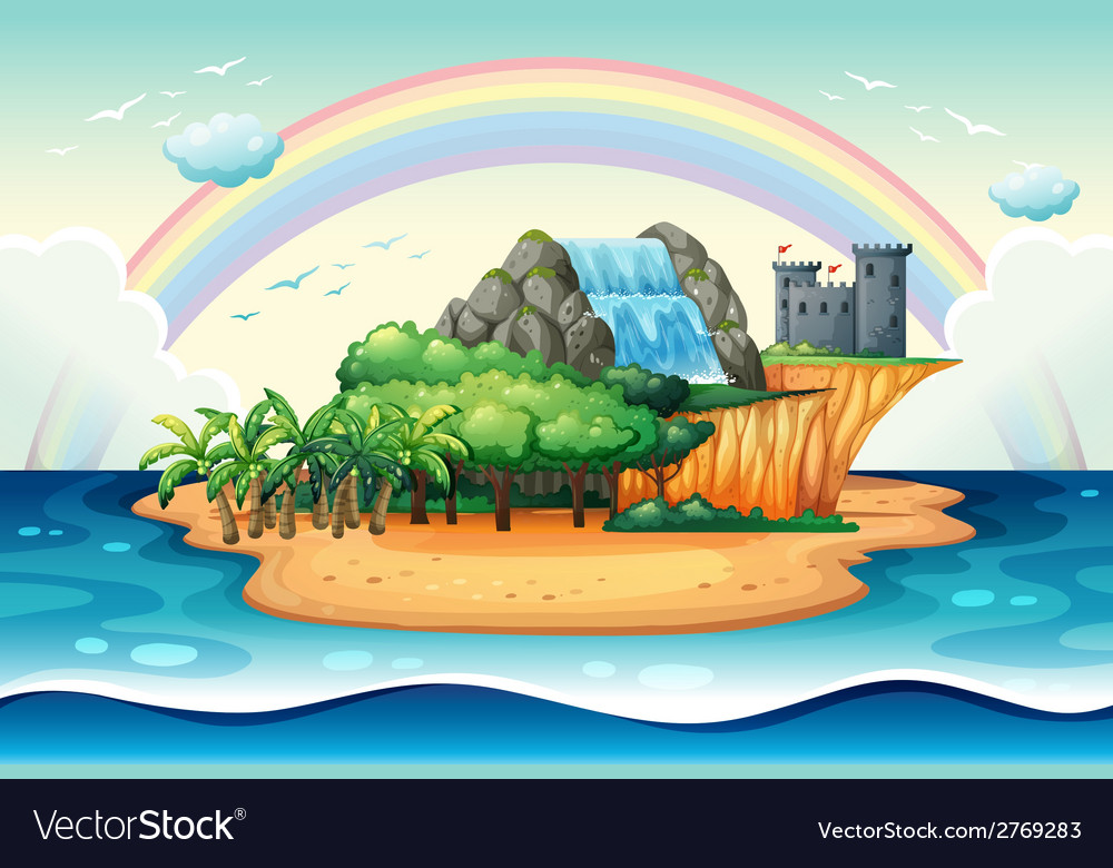 Island vector | Price: 3 Credit (USD $3)