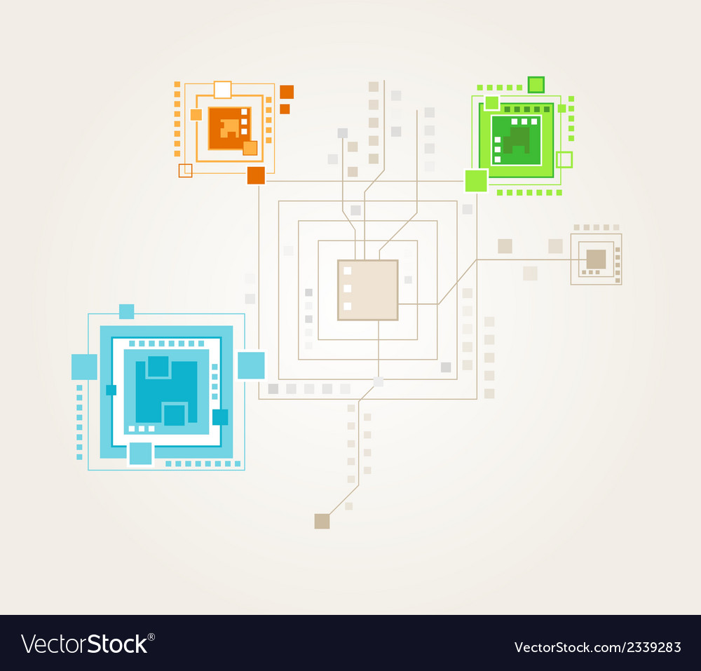 Map of the color squares vector | Price: 1 Credit (USD $1)