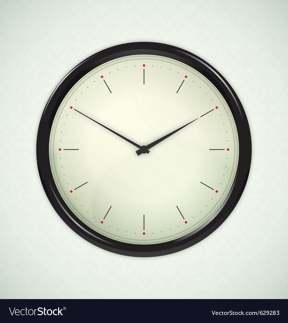 Office clock vector | Price: 3 Credit (USD $3)