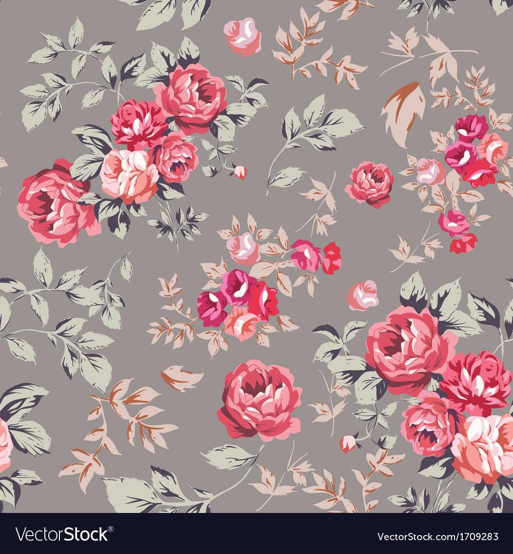 Rose seamless pattern pink brown vector | Price: 1 Credit (USD $1)