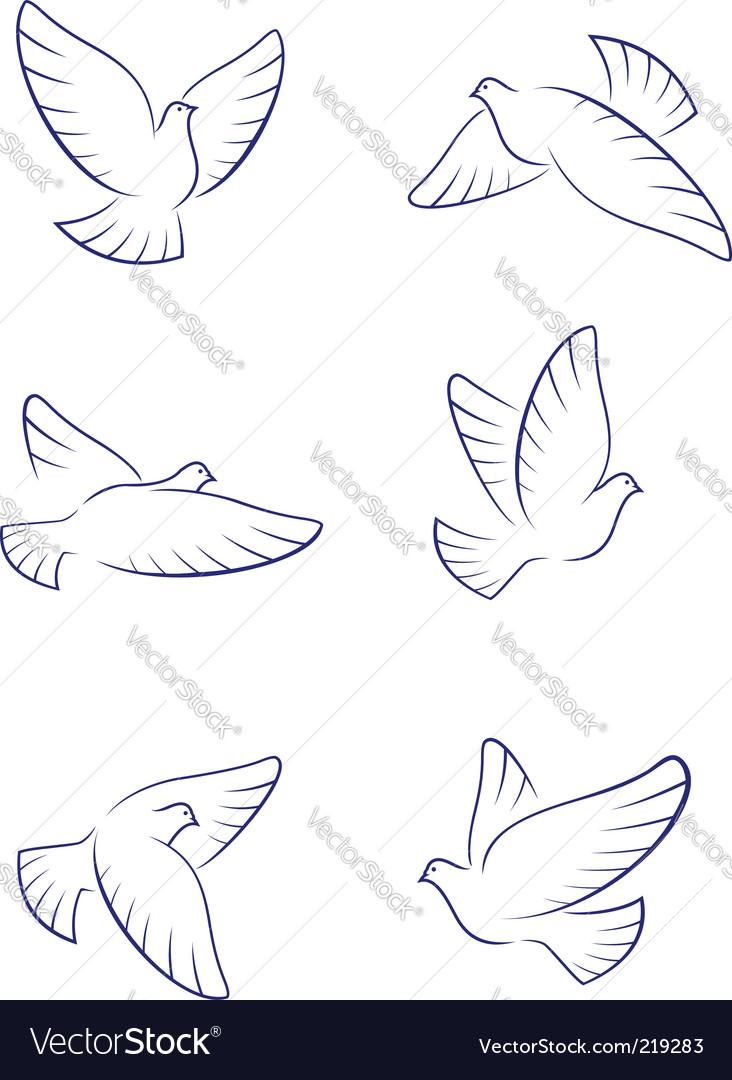 White doves vector   Price: 1 Credit (USD $1)