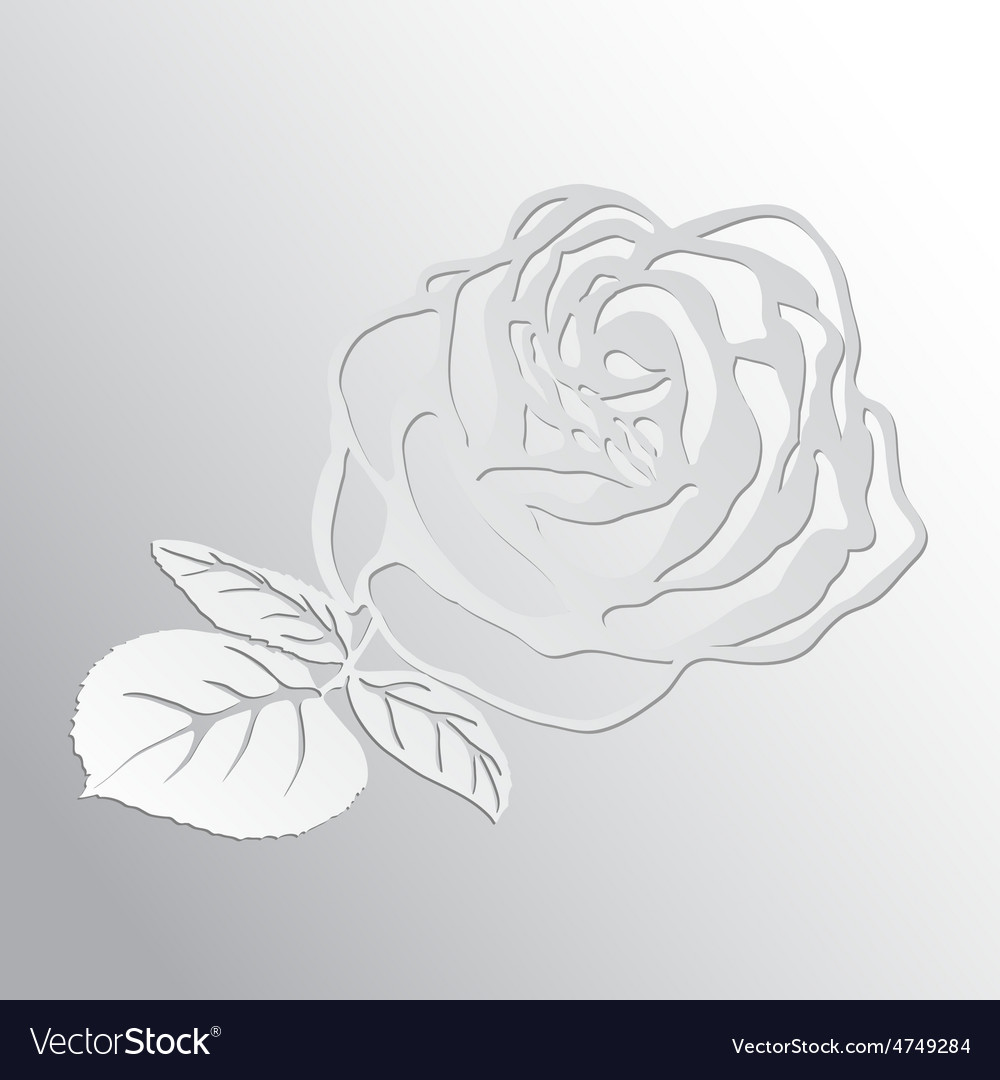 Abstract rose cut out of paper vector | Price: 1 Credit (USD $1)