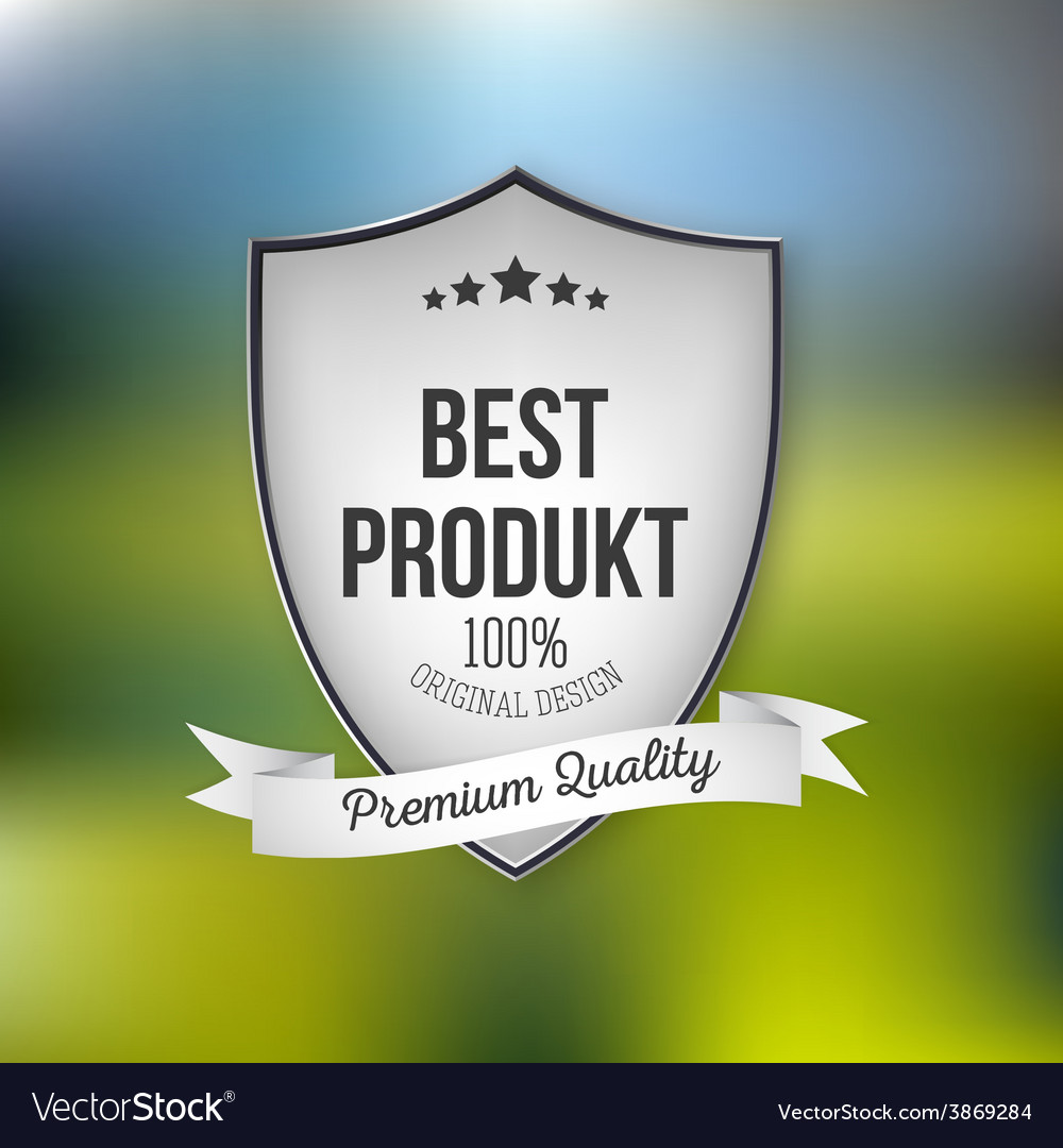 Best product shield isolated on blurred background vector | Price: 1 Credit (USD $1)