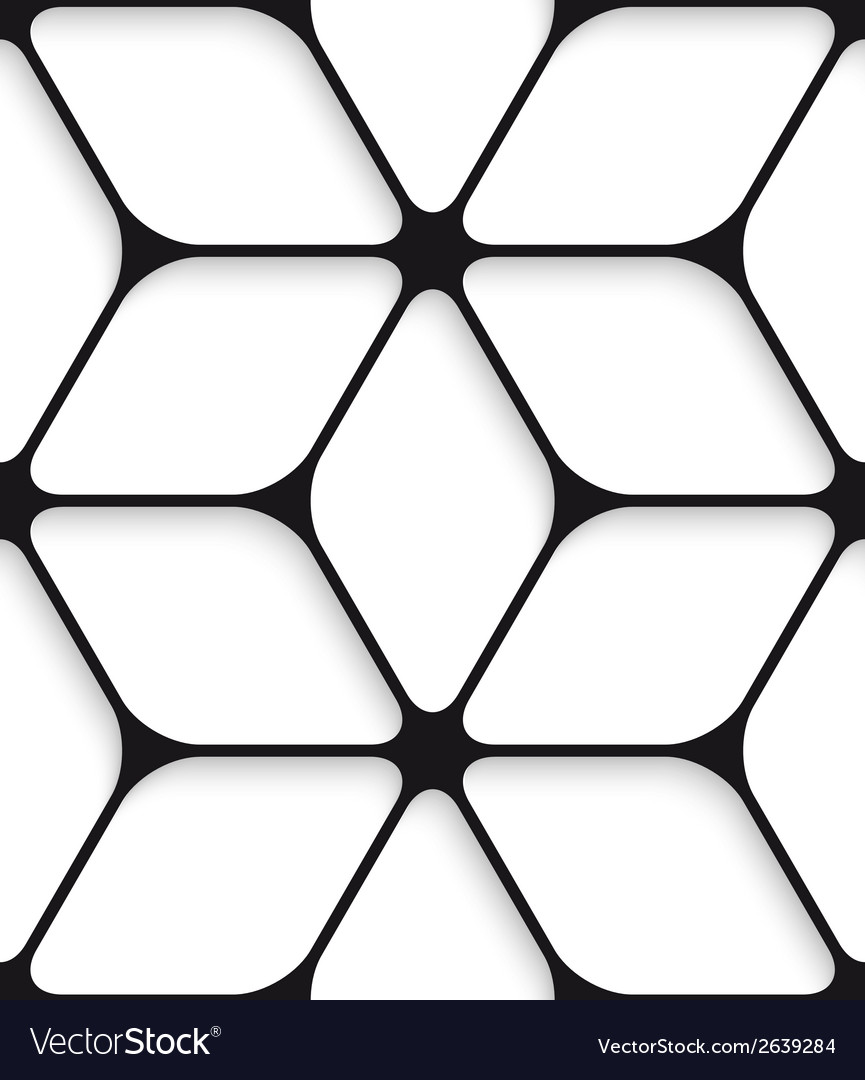 Black hexagon net seamless pattern vector | Price: 1 Credit (USD $1)