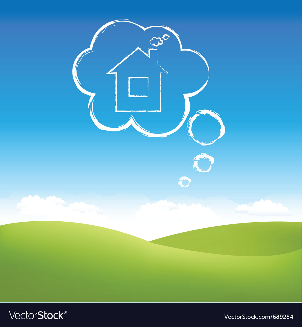 Cloud house vector | Price: 1 Credit (USD $1)