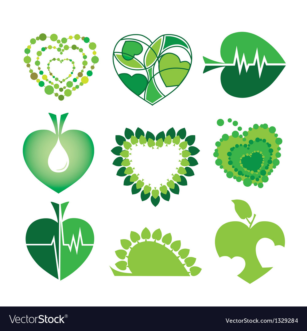 Collection of logos health and the environm vector | Price: 1 Credit (USD $1)