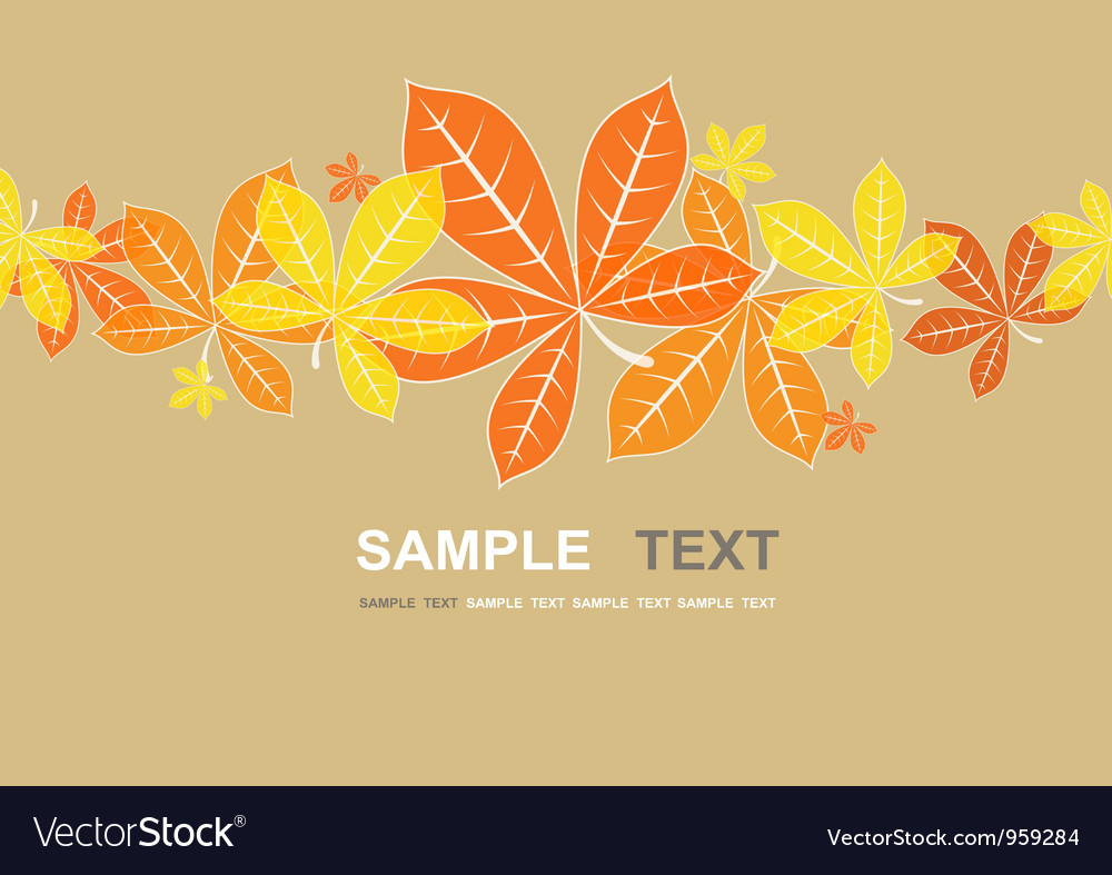 Colored autumn leaves background vector | Price: 1 Credit (USD $1)