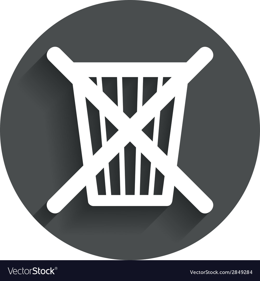 Do not throw in trash recycle bin sign icon vector | Price: 1 Credit (USD $1)