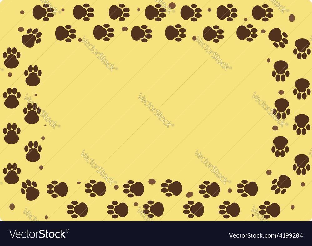 Dog muddy tracks vector | Price: 1 Credit (USD $1)