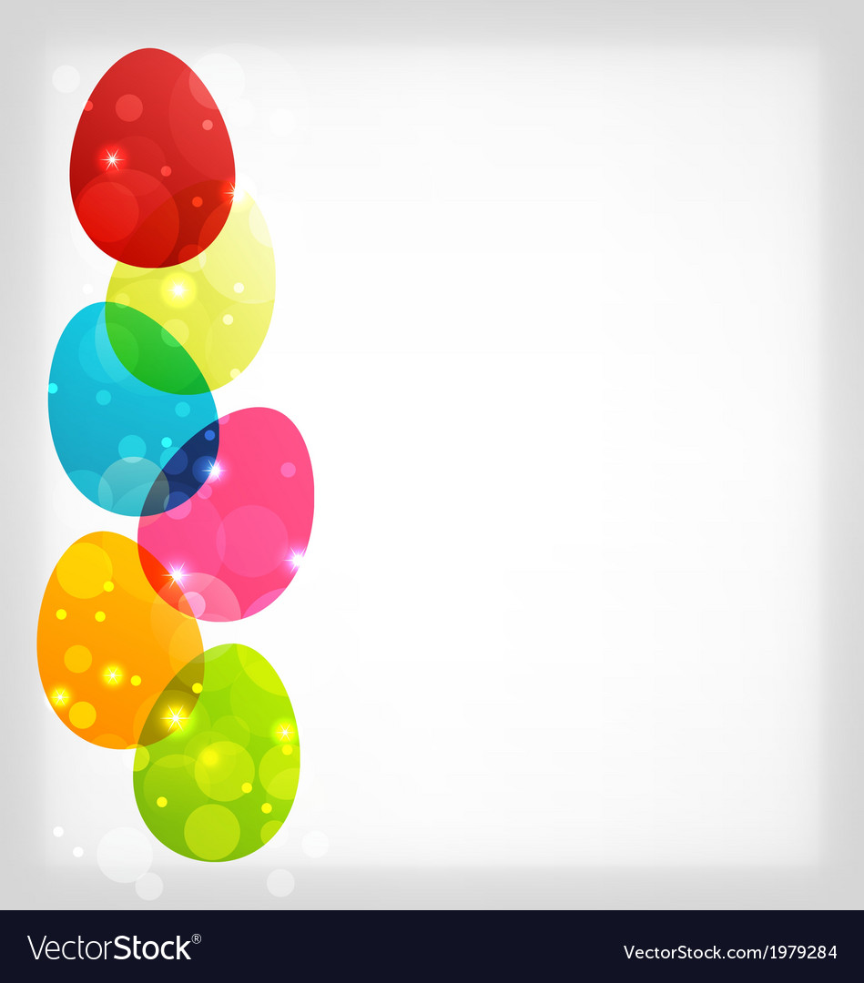 Easter colorful eggs with space for your text vector | Price: 1 Credit (USD $1)