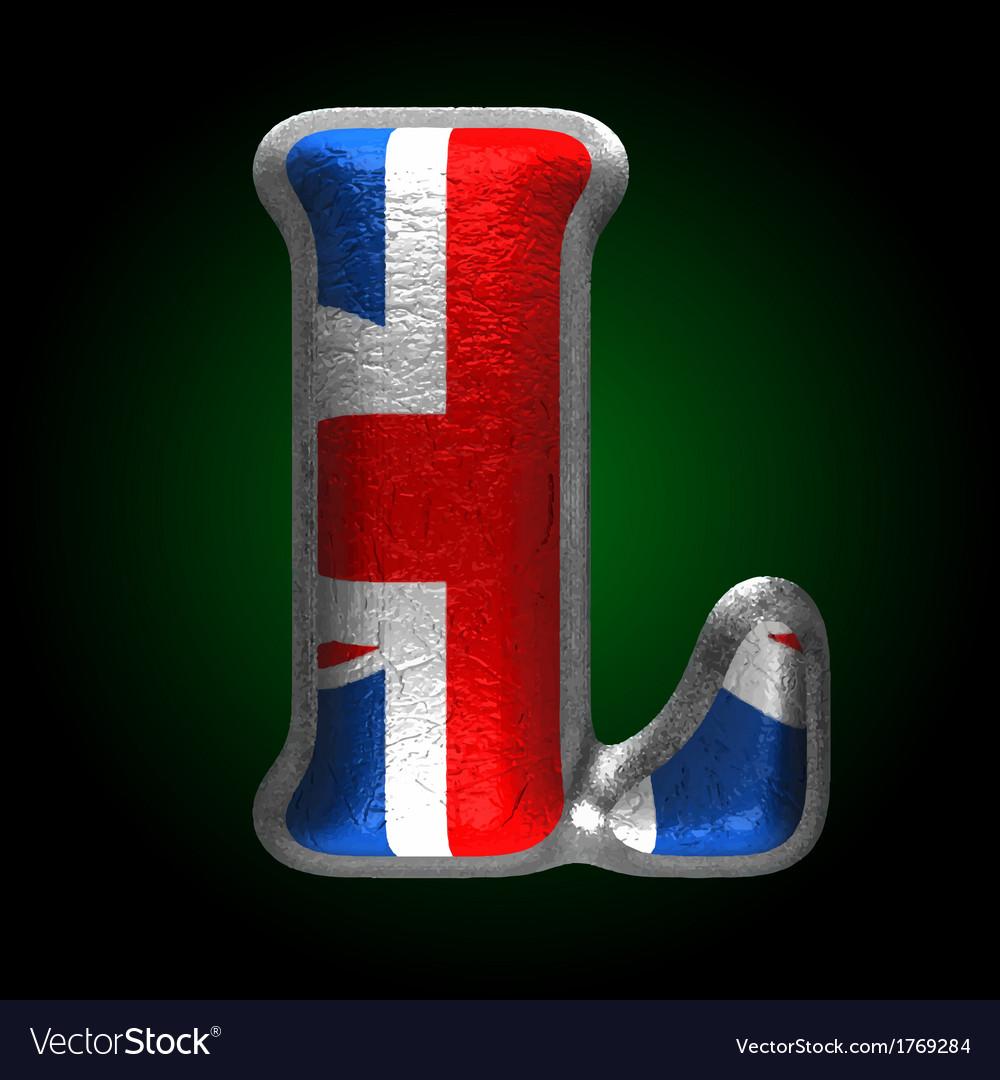 Great britain metal figure l vector | Price: 1 Credit (USD $1)