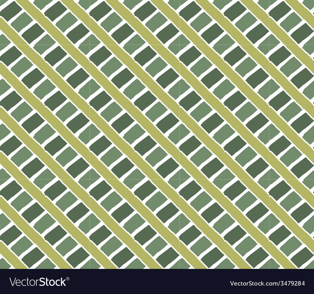 Hand drawing ornament pattern grass green vector | Price: 1 Credit (USD $1)