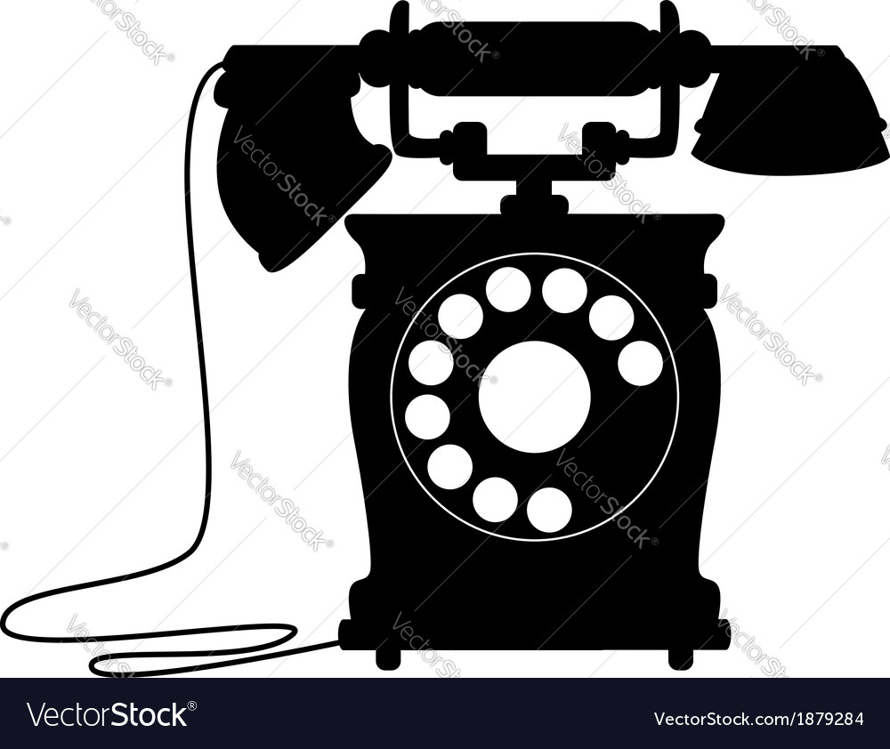Old-fashioned dial up telephone vector | Price: 1 Credit (USD $1)