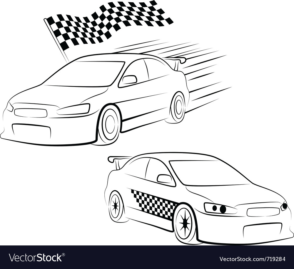 Sports car silhouette vector | Price: 1 Credit (USD $1)