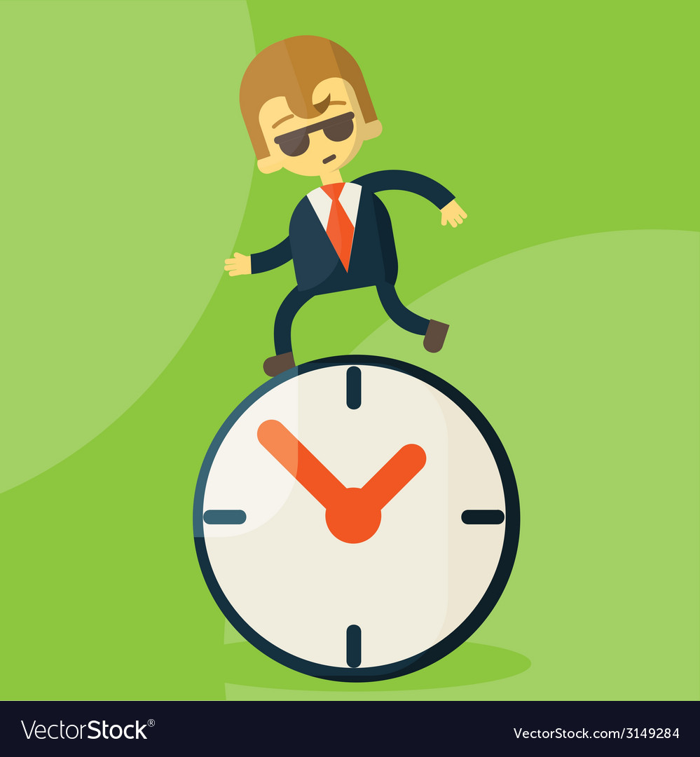The time management vector | Price: 1 Credit (USD $1)