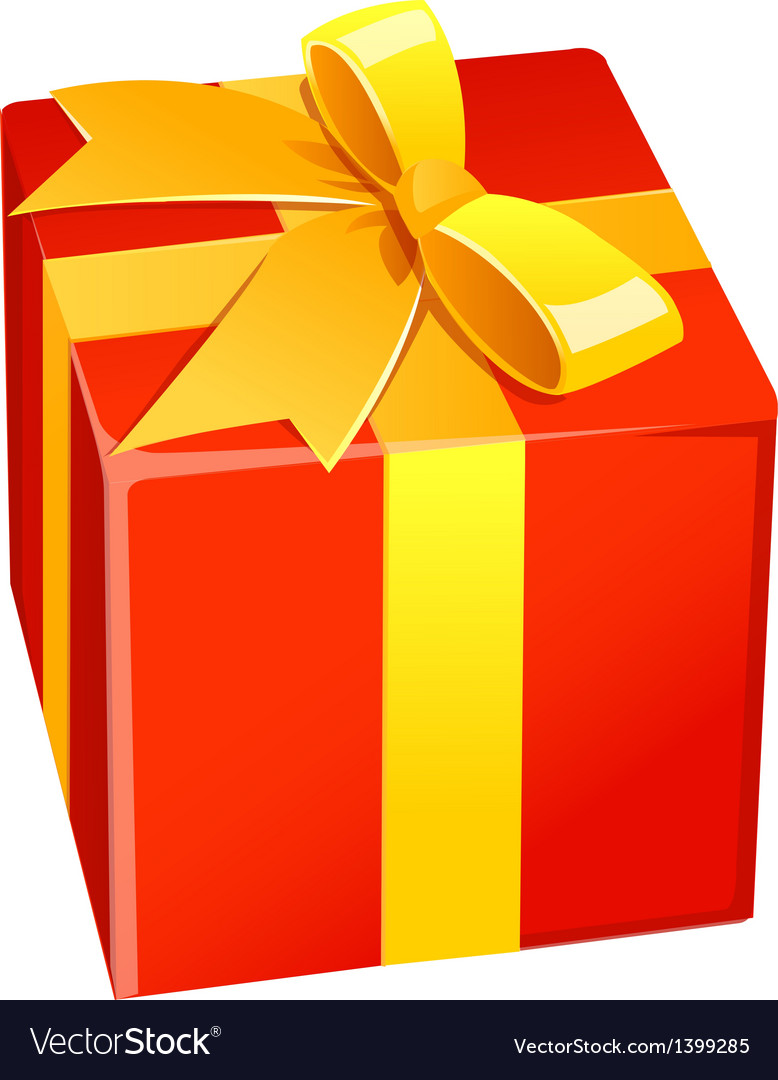 A gift box is placed vector | Price: 1 Credit (USD $1)