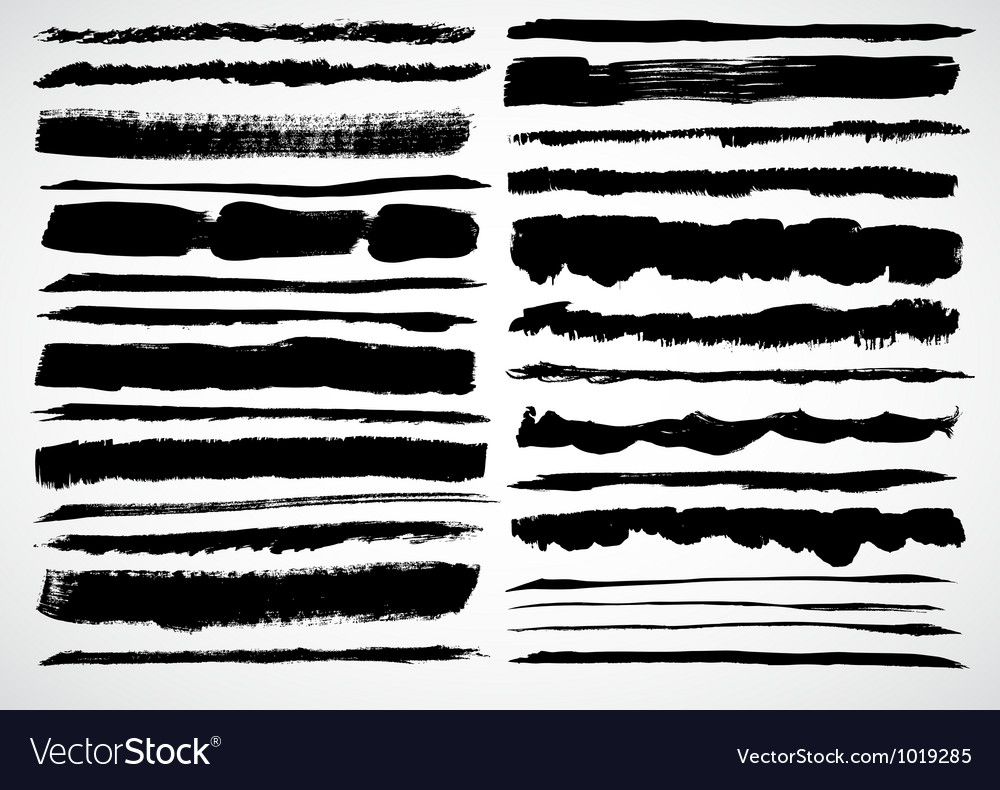 A set of grunge strokes vector | Price: 1 Credit (USD $1)