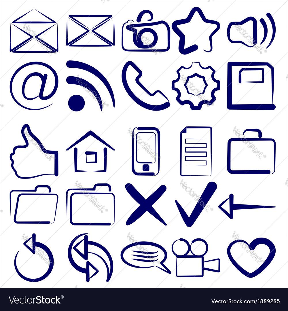 Computer icon collection symbols vector | Price: 1 Credit (USD $1)
