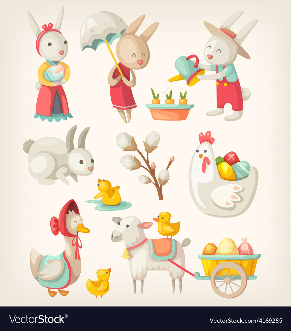Easter toys and characters vector   Price: 3 Credit (USD $3)