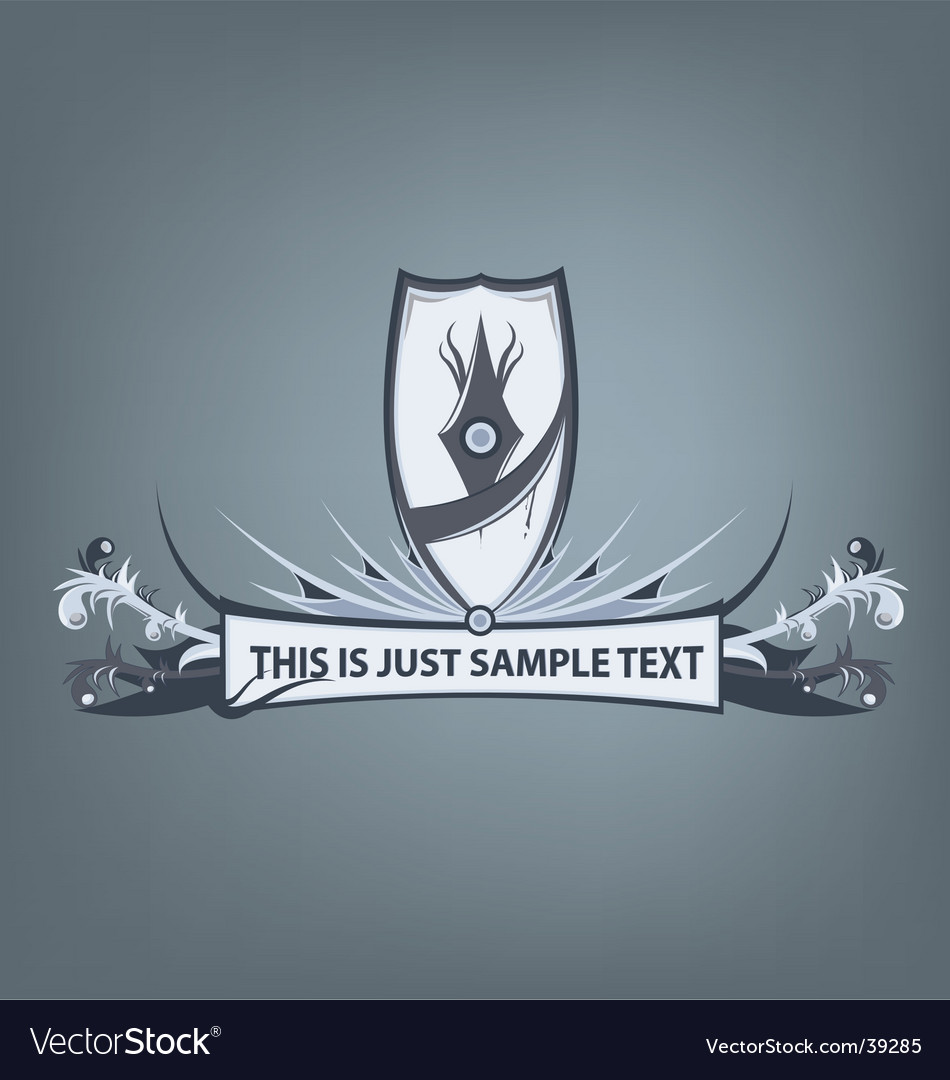 Grunge crest vector | Price: 1 Credit (USD $1)