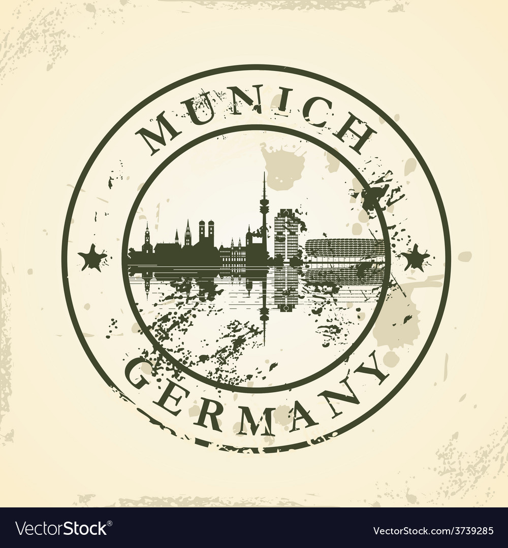 Grunge rubber stamp with munich germany vector   Price: 1 Credit (USD $1)