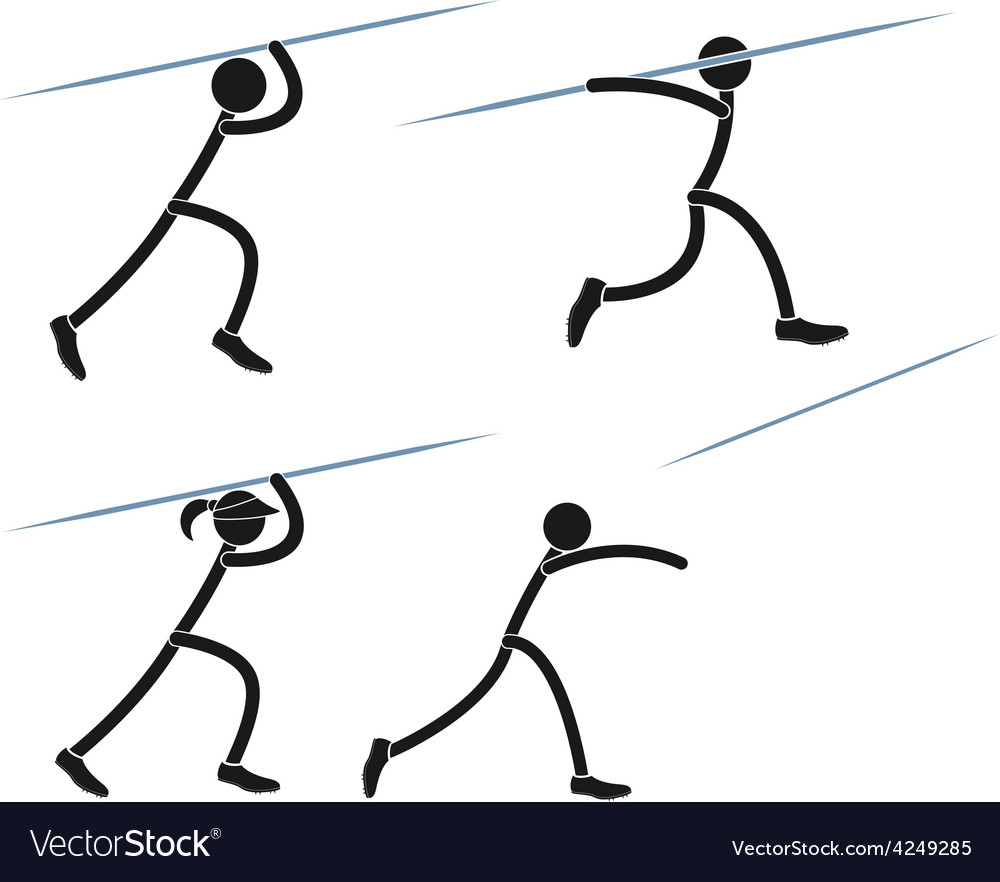 Javelin throwing vector | Price: 1 Credit (USD $1)