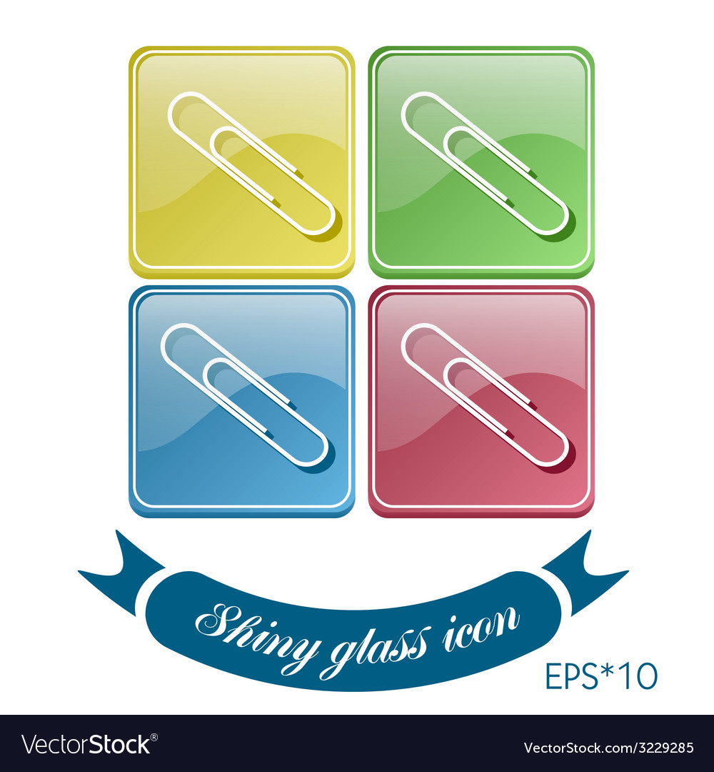 Paper clip icon a symbol of office vector | Price: 1 Credit (USD $1)