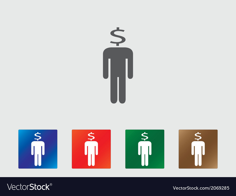 People with money head icons vector | Price: 1 Credit (USD $1)
