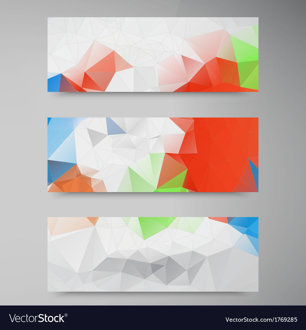 Polygon stown set banner 2 110913 vector | Price: 1 Credit (USD $1)