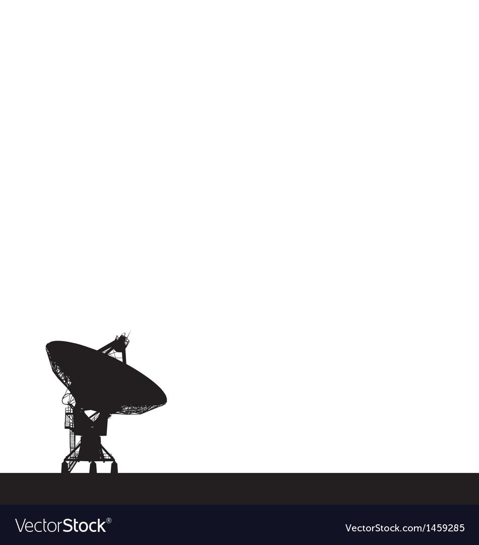 Radio telescope vector | Price: 1 Credit (USD $1)
