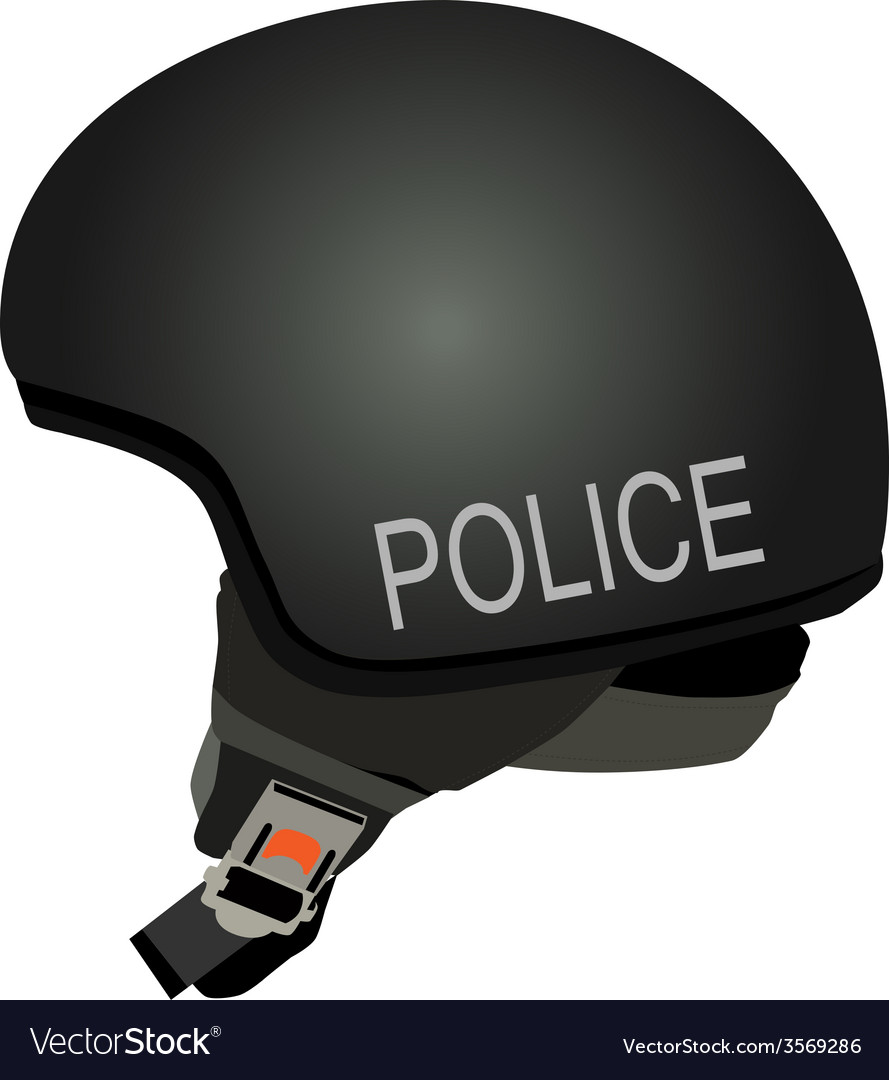 Black police helmet with text police vector | Price: 1 Credit (USD $1)