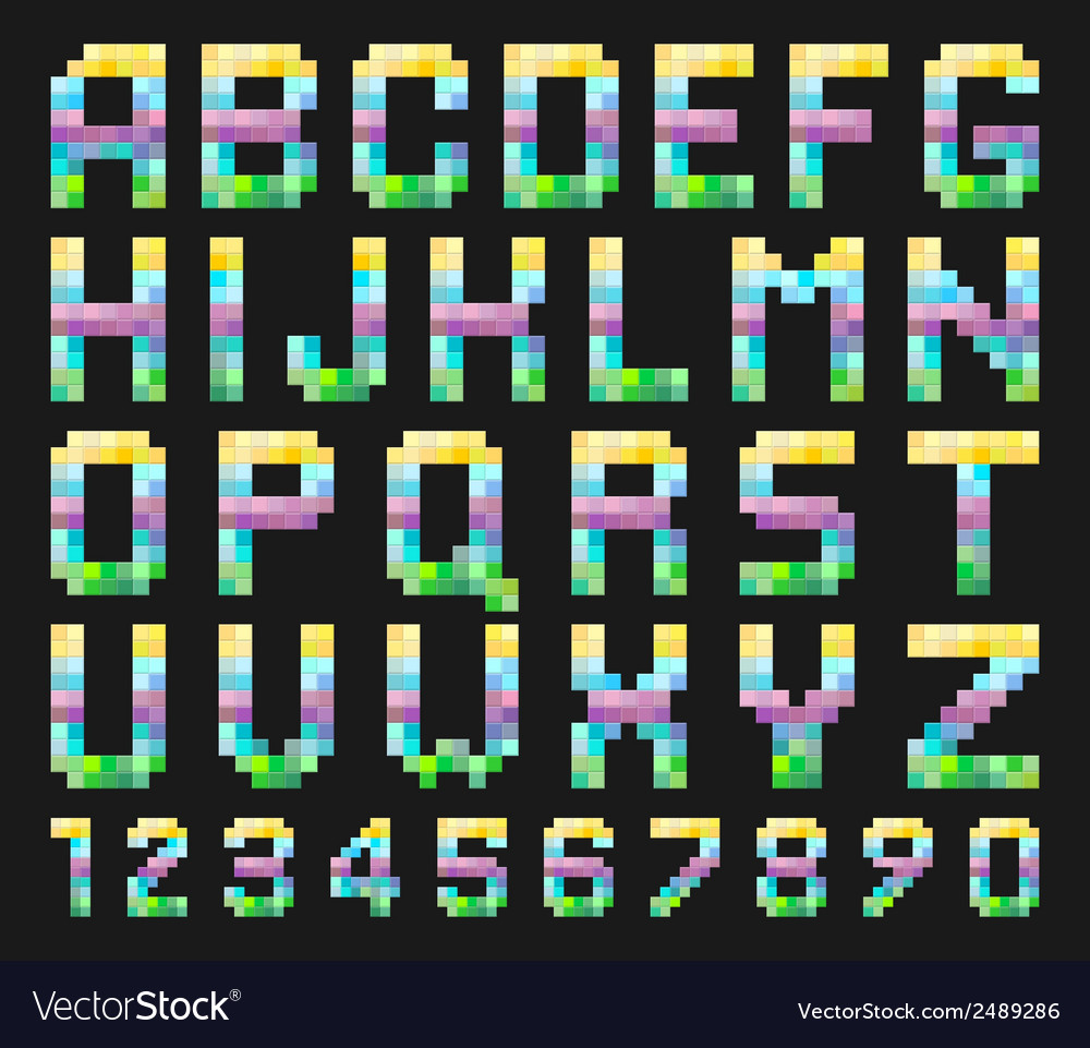 Colorful alphabet set vector | Price: 1 Credit (USD $1)